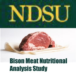 NDSU Bison Meat Nutritional Analysis Study
