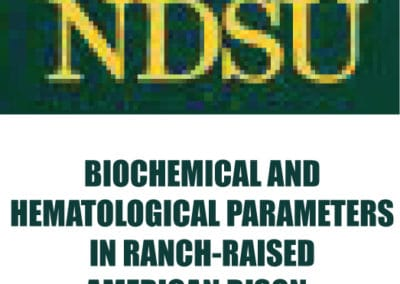 NDSU Bison Blood Parameters Study