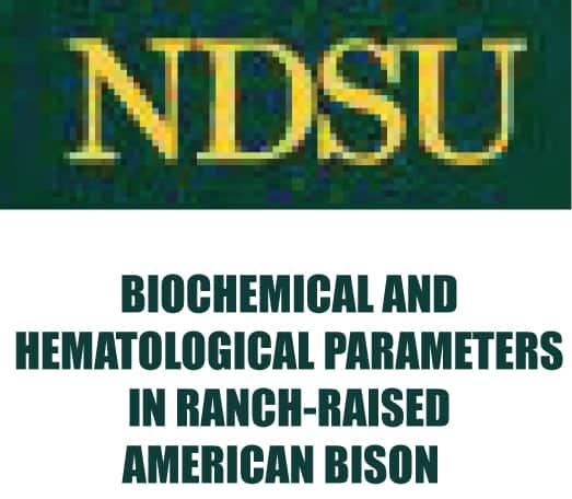 NDSU Bison Blood Parameters Study